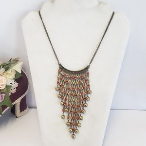 Vintage Beaded Statement Necklace